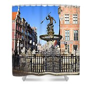 Gdansk Old City In Poland Shower Curtain