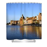 Gdansk Old Town And Motlawa River Shower Curtain