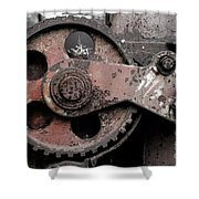 Gear Wheel Shower Curtain