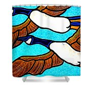 Geese In Flight Shower Curtain