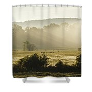 Geese Mist And Sun Shower Curtain