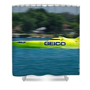 Geico Offshore Racer Shower Curtain