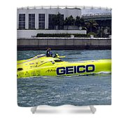 Geico Race Boat Shower Curtain