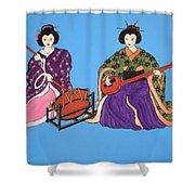 Geisha Serenade Shower Curtain