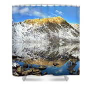 Geissler Mountain In Linkins Lake Shower Curtain