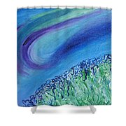 Gel Planet Shower Curtain by Ruth Collis