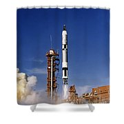 Gemini 12 Astronauts Lift Off Aboard Shower Curtain
