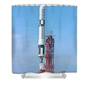 Gemini Vi Lifts Off From Its Launch Pad Shower Curtain