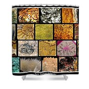 Gemstones And More Collage Shower Curtain