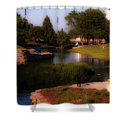 Gene Leahy Mall In Full Glory Shower Curtain
