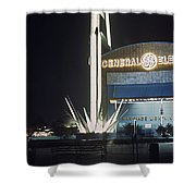 General Electric Pavilion At Night Shower Curtain
