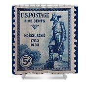 General Kosciuszko Postage Stamp Shower Curtain