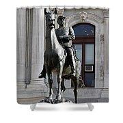 General Mc Clellan Statue - Philadelphia Shower Curtain