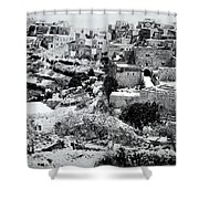 General View Of The Holy Road Shower Curtain