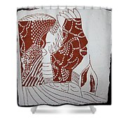 Generations - Tile Shower Curtain