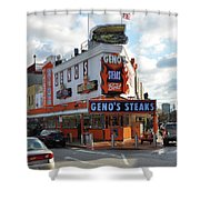 Geno's Steaks - South Philadelphia Shower Curtain