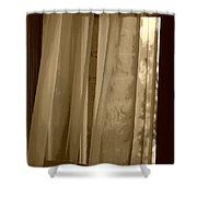 Gentle Breeze In Sepia Shower Curtain