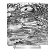 Gentle Giant In Negative Black And White Shower Curtain