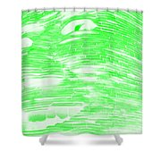 Gentle Giant In Negative Light Green Shower Curtain
