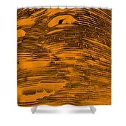 Gentle Giant In Negative Orange Shower Curtain