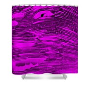 Gentle Giant In Negative Purple Shower Curtain