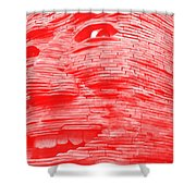 Gentle Giant In Negative Red Shower Curtain