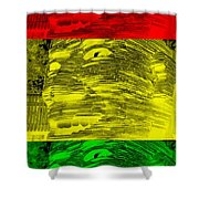 Gentle Giant In Negative Stop Light Colors Shower Curtain