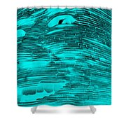 Gentle Giant In Negative Turquois Shower Curtain