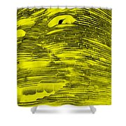 Gentle Giant In Negative Yellow Shower Curtain