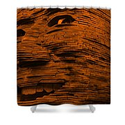 Gentle Giant In Orange Shower Curtain