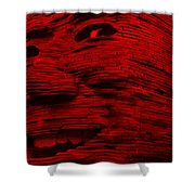 Gentle Giant In Red Shower Curtain