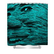 Gentle Giant In Turquois Shower Curtain