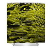 Gentle Giant In Yellow Shower Curtain