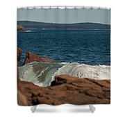 Gently Rolling Tide Shower Curtain
