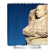 Genuine Leader Shower Curtain by Mitch Cat