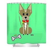 Geo Chihuahua Shower Curtain