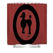 Geo Poodle Shower Curtain