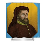 Geoffrey Chaucer, Father Of English Shower Curtain