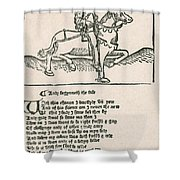 Geoffrey Chaucers, Canterbury Tales Shower Curtain