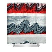 Geologic Crumpling Shower Curtain