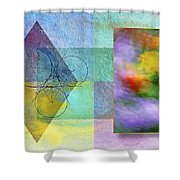 Geometric Blur Shower Curtain