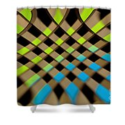 Geometrical Colors And Shapes 1 Shower Curtain