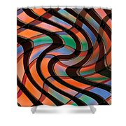 Geometrical Colors And Shapes 2 Shower Curtain