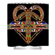 Geometry Mask Shower Curtain