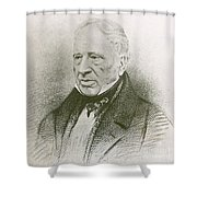 George Cayley, English Aviation Engineer Shower Curtain by Science Source
