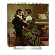George Herbert And His Mother Shower Curtain