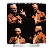 George Jones Concert Collage Shower Curtain