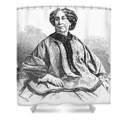 George Sand, French Author And Feminist Shower Curtain