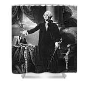 George Washington, 1st American Shower Curtain by Omikron