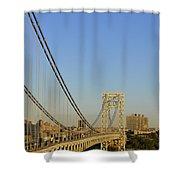 George Washington Bridge And Boat Shower Curtain